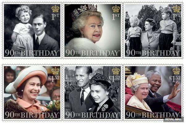 90e anniversaire Royal timbres