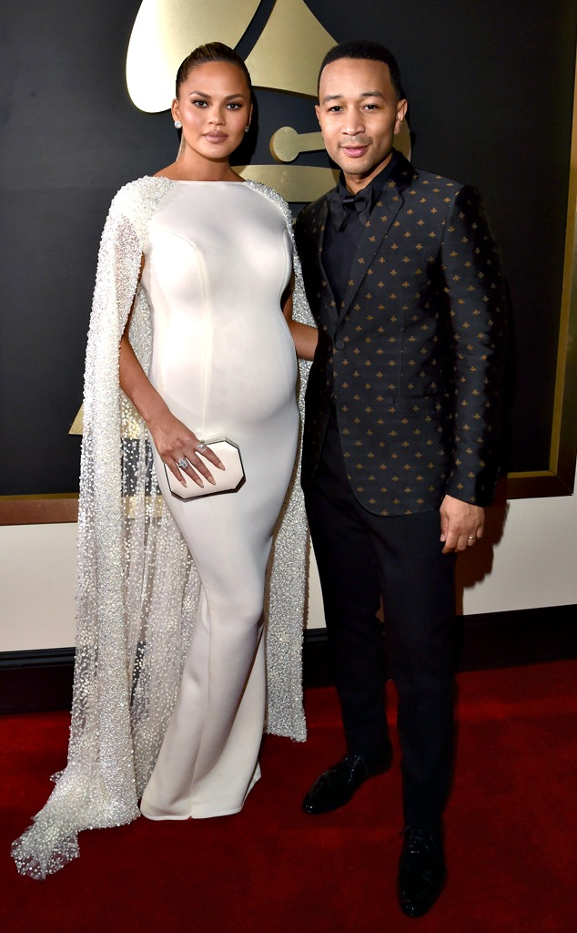 John Legend and wife