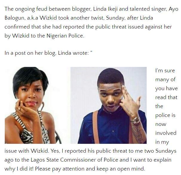 Wiz Kid vs Linda Ikeji