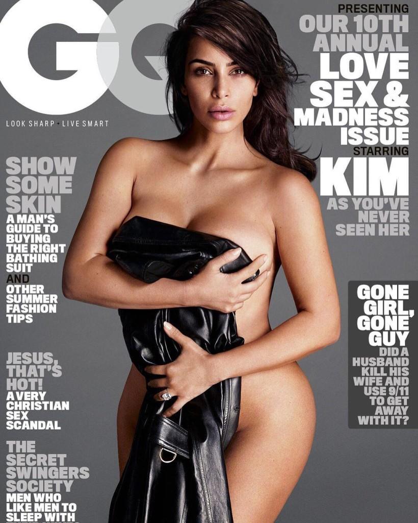 PHOTO: Kim Kardashian on GQ Cover. Photo Credits: GQ Instagram