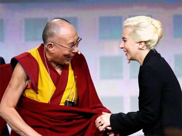 PHOTO: Lady Gaga and the Daila Lama. Photo Credit: indiatimes.com
