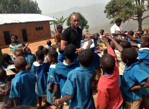 PIC OF THE WEEK: 'FOTEMAH MBA' AND HIS QUEST TO EDUCATE CHILDREN!
