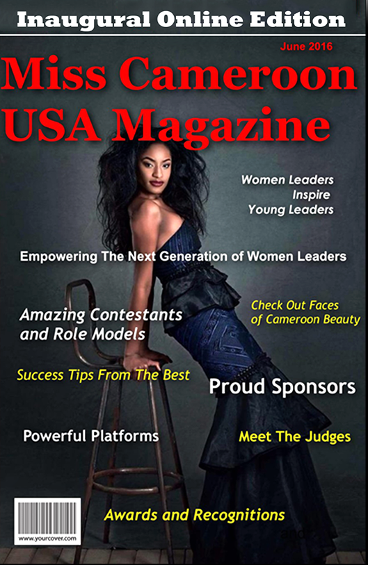 Miss Cameroon USA Magazine 2016 Cover