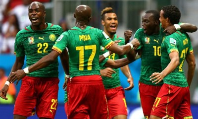 PHOTO: Cameroonian Players. Photo Credits: www.espnfc.com