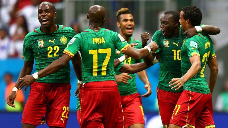 PHOTO: Cameroonian Players. Photo Credits: www.espnfc.com