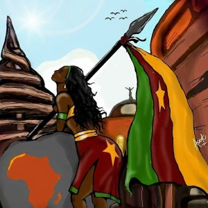 CAMEROONIAN ARTIST NDEDI ASEK USES ARTWORK IN SUPPORT OF THE VICTIMS OF THE RECENT TRAGEDIES IN CAMEROON!
