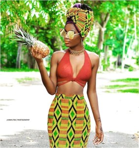 PIC OF THE DAY: AFRICAN PRINT THAT LOOKS AS SWEET AS A PINEAPPLE!
