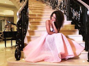 BONANG MATHEBA'S BEAUTIFUL PINK DRESS