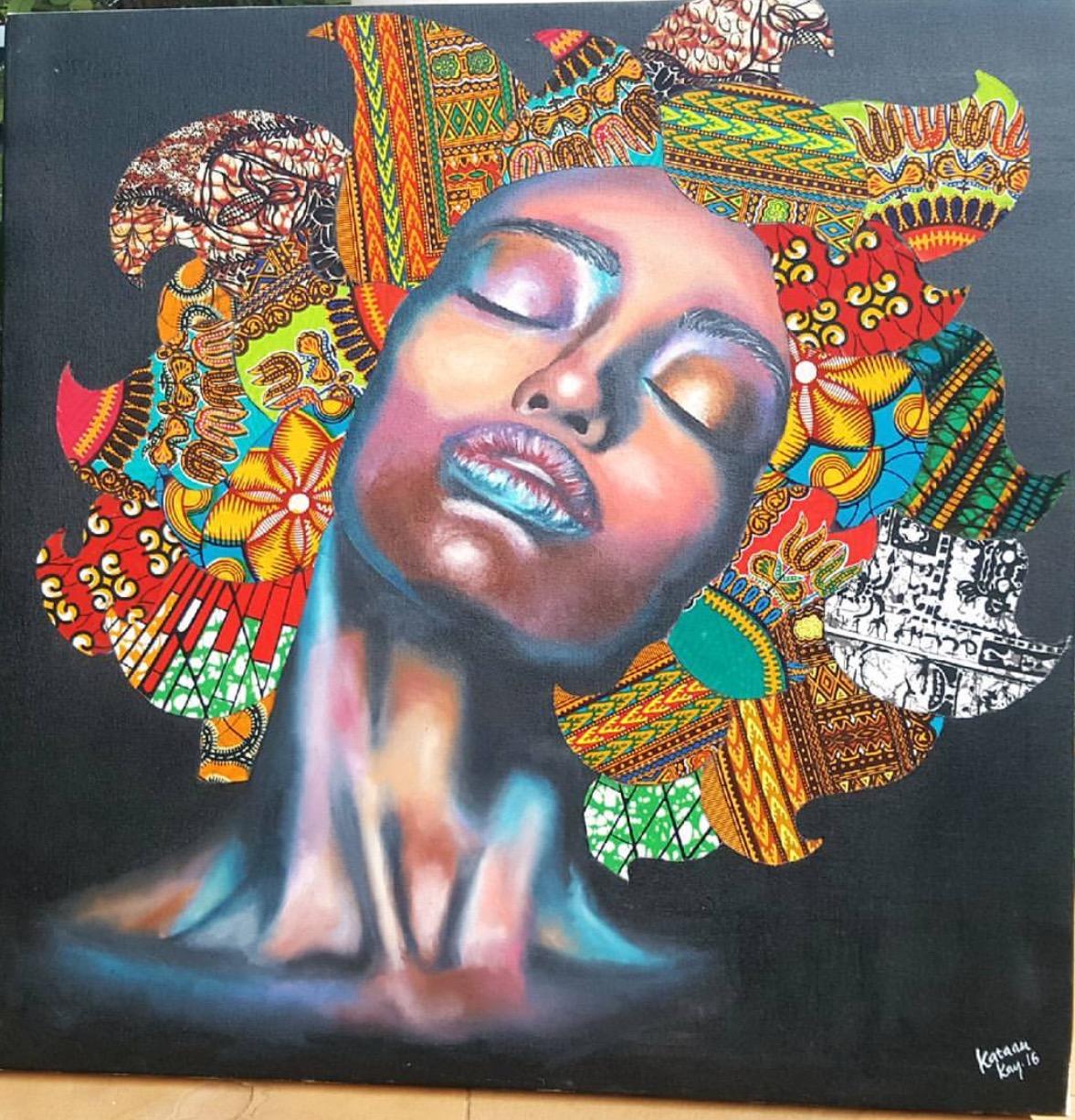 Beautiful Artwork Using African Print By Katanu Kay The Hotjem